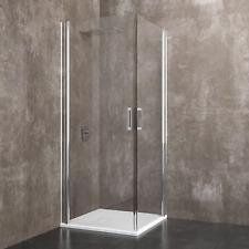 Box cabina doccia bagno quadrato vetro cristallo porta anta scorrevole angolare