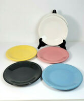 Fiestaware Bread and Butter Plates 7 Inch Assorted Colors Lead Free Lot of 6