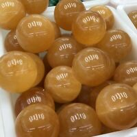 Natural Yellow Calcite Sphere Quartz Crystal Ball Reiki Healing wholesale 1kg