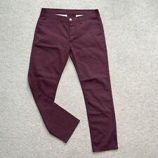 Light Summer Chino Trousers Fr Voi Jeans Burgundy 34W 30L Regular Skater Casual