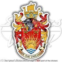 "SUFFOLK Coat of Arms England Ipswich UK English Vinyl Bumper Decal Sticker, 4,2"""