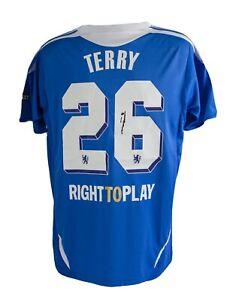 Signed John Terry Chelsea FC 2012 Champions League Winners Shirt AFTAL COA