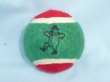 Snowman  TENNIS BALL  Christmas Dog Toy  RED/GREEN  by ZANIES  New!
