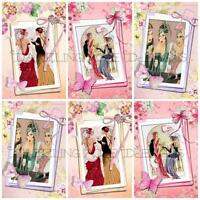12 ART DECO BEST FRIENDS  Embellishments, Card Making Toppers, Card Toppers