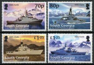 South Georgia & S Sandwich Islands Navy Ships Stamps 2020 MNH HMS Forth 4v Set