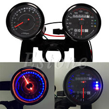 Hot Motorcycle Universal Odometer & Tachometer Speedometer Gauge + Bracket Kit