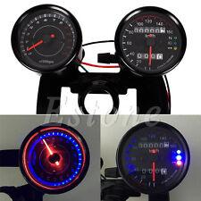 Hot Motorcycle Universal Odometer & Tachometer Speedometer Gauge + Bracket Kit