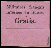 Switzerland #YT1 French POW Franchise Label CVÛ130 (Zumstein 250CHF)