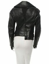 CRAZY COOL $3,555 NEW JUNYA WATANABE FAUX LEATHER ASYMMETRICAL MOTO JACKET