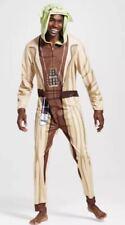 Star Wars Yoda Costume Mens LARGE Halloween Pajamas Union Suit Hooded L Adult