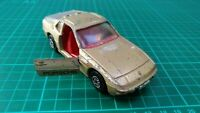 Vintage Corgi no 321 Porsche 924 Metallic Gold Diecast Model Car Toy Collectible