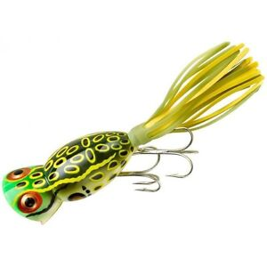 USA Import Arbogast Hula Popper topwater popper lure, 4 sizes, 11 colours