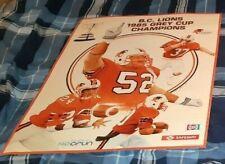 BC LIONS 1985 GREY CUP CHAMPIONS ORIGINAL PROMO POSTER SAFEWAY/CFUN