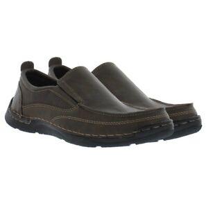 IZOD Men's Brown Forman Boot Shoe Oxford Shoe Loafers Memory Foam Size 12