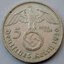 5 Reichsmark 1936 F, Third Reich Germany, Paul von Hindenburg, 5 Mark