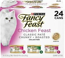 New listing Purina Fancy Feast Wet Cat Food Variety Pack Chicken Feast Collection - 24 3 oz
