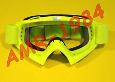 MASCHERA OCCHIALI CROSS  RACING GOGGLE  OFF-ROAD COLORE GIALLO -YELLOW  301015