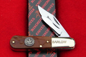 Winchester USA Brown Bone Barlow Pocket Knife - 29020 - New in Box 2021 Release!