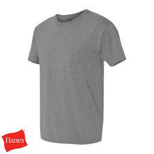 Hanes ComfortBlend 50/50 EcoSmart Plain Tee Mens Crewneck T-Shirt S-4XL - 5170