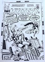 THOR VS THOR ?!?  JOURNEY INTO MYSTERY 95  1960s ART TRANSPARENCY  KIRBY & Ayers