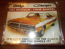1969 Dodge Charger Tin Sign