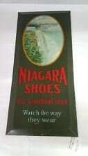 Vintage Advertising Niagra Shoes Tin Lithograph Sign Niagra Shoe Sign 221-Z