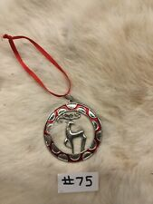 Pewter Reindeer Ornament #75
