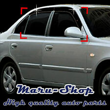 Smoke Door Window Vent Visor Deflector for 00~05 Hyundai Accent/Verna 4DR/5DR