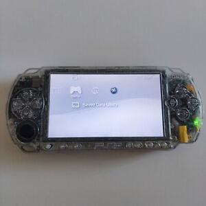 consola SONY PSP 1000 transparent / transparente con cargador / charger