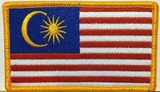 MALAYSIA Flag  Iron-On Patch  Military Army Emblem Shoulder Emblem