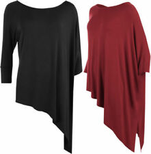 Plus Size Polyester Solid 3/4 Sleeve Tops & Blouses for Women