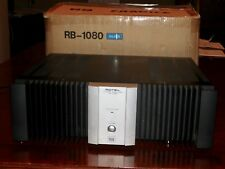 Rotel RB-1080 POWER AMPLIFIER 200 WPC 2 Channel Silver Audiophile - NEAR MINT!!