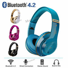 Bluetooth Headset Wireless Noise Cancelling Over Ear With Microphone Headphone