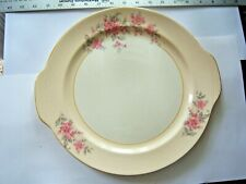 """Vintage Round Serving Platter W/Handles Floral Blossoms 12-1/4"""" Free Shipping"""