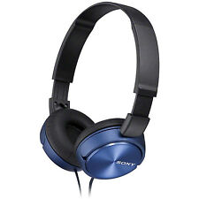 Sony foldable stereo headphones Metallic blue over-ear/head headset PC/Laptop
