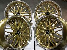 """Oro 18"""" 190 Ruedas de aleación se adapta Chrysler Dodge Hyundai Infinity modelos de Kia"""