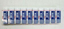 10 Pack Pentel Hi Polymer Eraser Rectangular Medium White Latex Free Hi Polymer