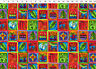 "ENCHANTMENT Panel Sm Squares Laurel Burch Quilt Fabric 23.5"" x 44"" 1966-56M"