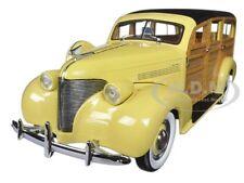 1939 CHEVROLET WOODY STATION WAGON ITALIAN CREAM 1/18 DIECAST MODEL SUNSTAR 6170