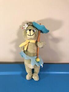 "Yogi CINDY BEAR Stuffed Animal Hanna-Barbera Plush Toy 8"" Skirt Umbrella"