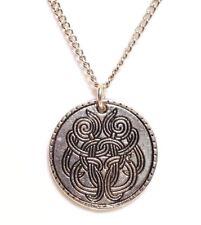 "CELTIC TREE_Pendant on 18"" Chain Necklace_Knot Irish Trinity Pagan Silver_229N"