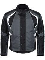 kurze Motorradjacke Cordura Textil Roller Biker Schwarz Weiß Grau M bis 4XL 780