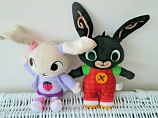 FISHER PRICE MATTEL BING RABBIT & COCO BUNNY SOFT TOYS CBEEBIES BUNDLE APPROX 9""