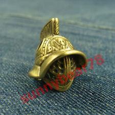 Solid Brass Warrior Helmet Lanyard Bead Paracord Knife Tool Beads Knife pendant