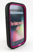 Samsung Ace Style S765C Hybrid Cover Case Hot Pink Armor Hard/Soft Dual Layer