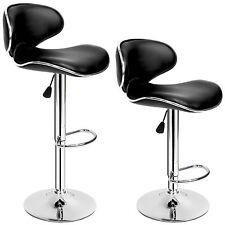 2x Tabourets de bar chaise fauteuil bistrot réglable pivotant siège 1x Lounge