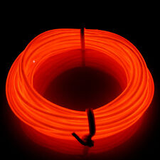 RED 16ft  Led EL Wire Tube Rope Flexible Neon Party Decor Light Strip Christmas