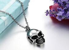 Gothic Halskette Kette Anhänger Titan Edelstahl Skull Totenkopf necklace neu