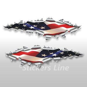 Adesivi bandiera AMERICANA American flag stickers cm 40
