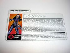 GI JOE BARONESS FILE CARD Vintage Action Figure GREAT SHAPE 1997